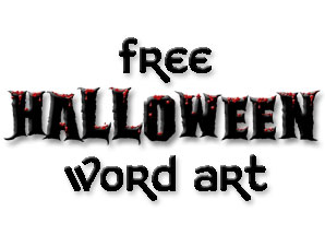 Free Halloween Word Art
