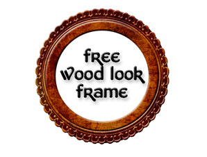 free digital fall wood look scrapbook frame