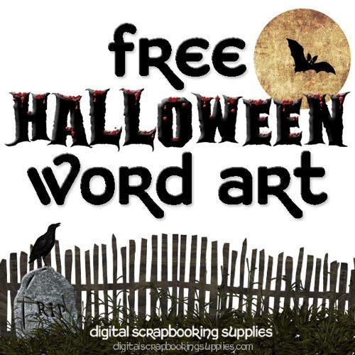 halloween word art freebie