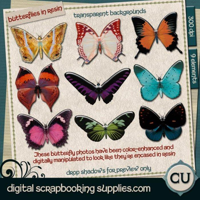 butterfly scrapbook elements